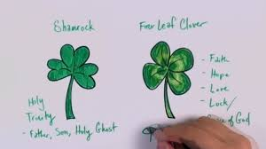 how to draw a shamrock how to draw a four leaf clover cc youtube