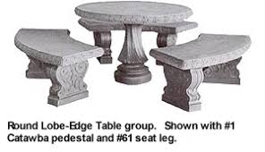 cement table and bench aluminum molds for concrete table tops table benches seating from
