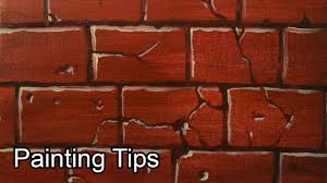 acrylic painting lesson how to paint bricks by jm lisondra youtube