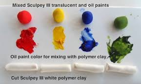 adding oil paint to polymer clay can create your own colored