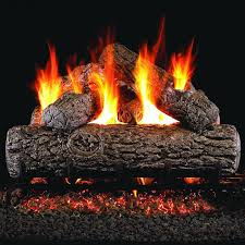 amazon com peterson real fyre 18 inch golden oak log set with