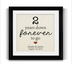 2nd wedding anniversary gifts 2 year anniversary gift for husband personalized framed