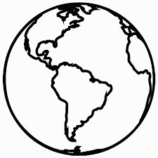 chic idea earth outline printable coloring tattoo vector