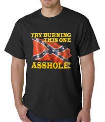 Jack Daniels Flag Confederate Flag Burn This One Mens T Shirt