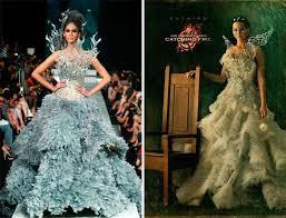 katniss everdeen wedding dress costume the designer of katniss s wedding dress in the hunger has