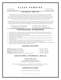 Resume Sample Technical Support by Technical Support Analyst Resume Sample Technical Support