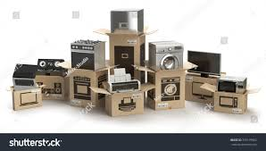 Electronics Kitchen Appliances - household kitchen appliances home electronics boxes stock