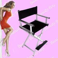 portable makeup chair with side table 2018 portable aluminium foldable beauty salon hairdressing cosmetic