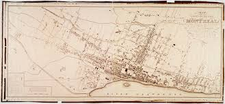 Map Of Montreal Map Of The City And Suburbs Of Montreal 1825 Mcgill Library