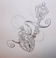 heart locket and key tattoos marketplace tattoo heart locket key