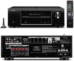 denon home theater receiver denon avr 1713 5 1 channel 3d pass through and networking home