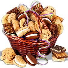 baked goods deluxe gift basket fresh fruit