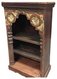 consigned antique indian arch bookshelf book case bookshelf arched