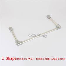 online shop brand new 2pcs bath shower screen aluminum alloy