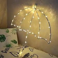 chambre lumiere 40 leds bricolage parapluie lumière chaude lumière led le de