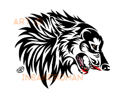 snarling wolf tribal design by insaneroman on deviantart