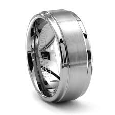 titanium mens wedding rings triton alto tungsten ring 9mm men s wedding band