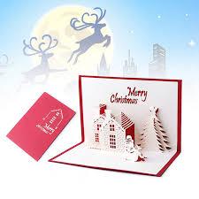 Merry Birthday Card 3d Pop Up Greeting Card Handmade Happy Birthday Merry Christmas