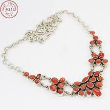 coral necklace silver images Fine silver coral gemstone necklace at rs 2880 piece coral jpg