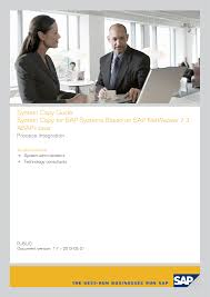 system copy for sap systems based on sap netweaver 7 3 abap java