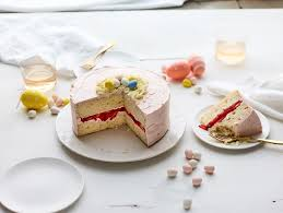 easter egg cake with strawberry frosting recipe epicurious com