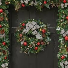 brilliant bright pre lit wreath improvements catalog