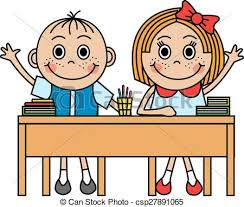 child sitting clipart cartoon children sitting at desk and pull hand to clip