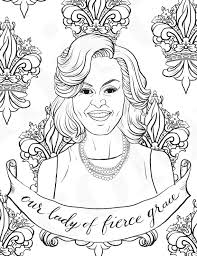 16 Fabulous Famous Women Coloring Pages For Kids Michelle Obama Eleanor Roosevelt Coloring Pages