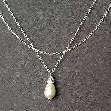 sterling silver wedding necklace images Swarovski pearl bridal necklace sterling silver wedding necklace jpg