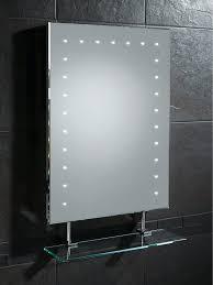 hib keo led bathroom mirror with glass shelf and shaver socket