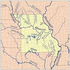 america map with rivers current river ozarks