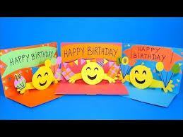 diy pop up card 3d emoji birthday cards easy crafts for kids