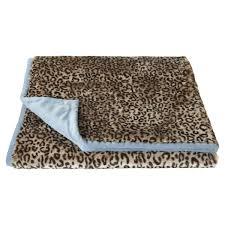 Cheetah Print Blanket Soft Faux Fur Throw Leopard Print Oka