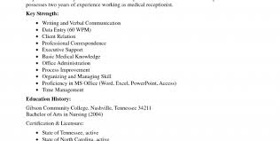 medical receptionist resume sample no experience medical office