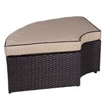 belleze 5 piece outdoor daybed sectional set round retractable