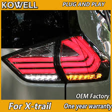 trail of lights parking kowell car styling for x trail tail lights 2014 2015 2016 2017 2018