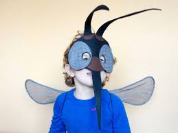 The Mask Costume Realistic Handmade Mosquito Costume That Includes Black Mosquito