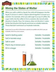 mixing the states of matter u2013 fourth grade free science printable