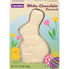white chocolate bunny frankford s white chocolate flavored solid easter bunny 5 3 oz