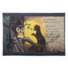 vintage halloween placemats zazzle