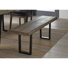 Wood Bench With Metal Legs Liberty Furniture Haley Springs Wood Bench With Live Edge And