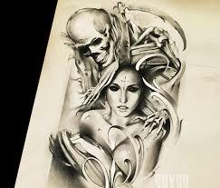 soul reaper sketch drawing by sergey shanko no 1875