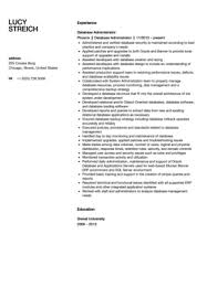 Database Administrator Resume Examples by Database Administrator Resume Sample Velvet Jobs
