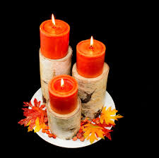 fall birch pillar candle holder rustic home decor birch logs