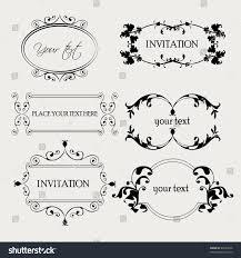 set decorative frame ornaments text vector stock vector 88234876