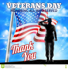 Design Of American Flag Veterans Day Silhouette Soldier Saluting American Flag Stock