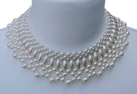 white collar necklace images 1950s white faux pearl collar necklace arabella bianco jpg
