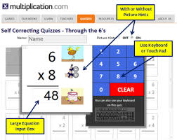 times tables the fun way online multiplication self corrected quizzes with quiz navigator