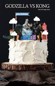 godzilla cake topper pink owl design shop line
