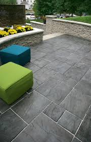 Patio Stone Designs by Rivenstone Front Entrance With Rivercrest Garden Walls
